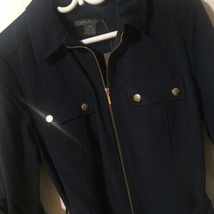Suzy Shier Navy Shirt Dress